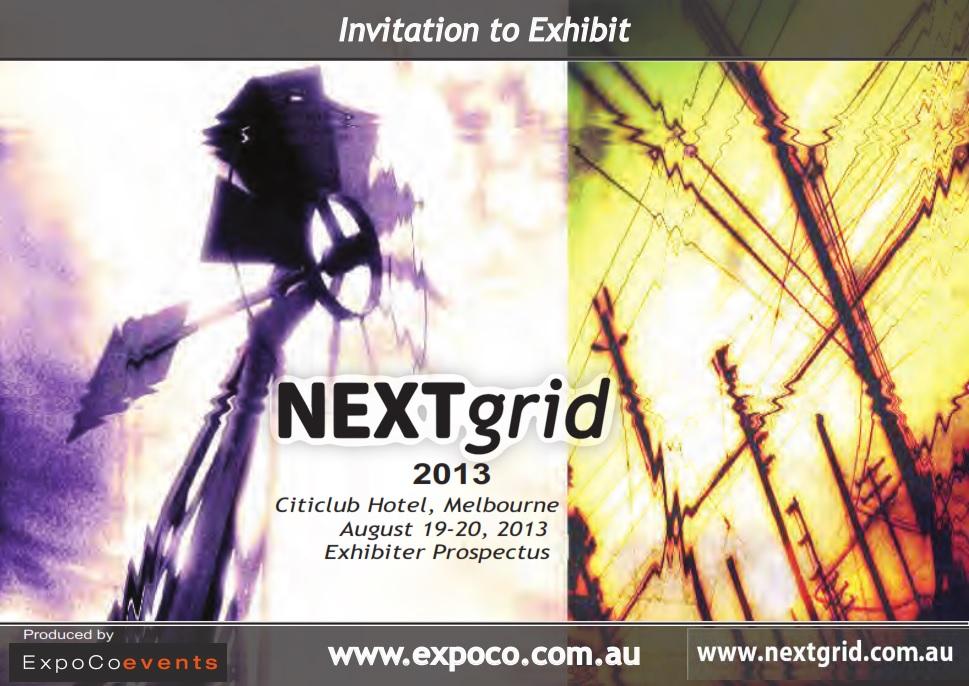 NextGrid 2013 Exhibiter Prospectus
