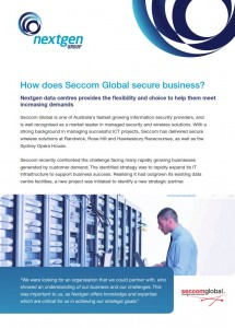 Nextgen Group - Seccom Global Case Study