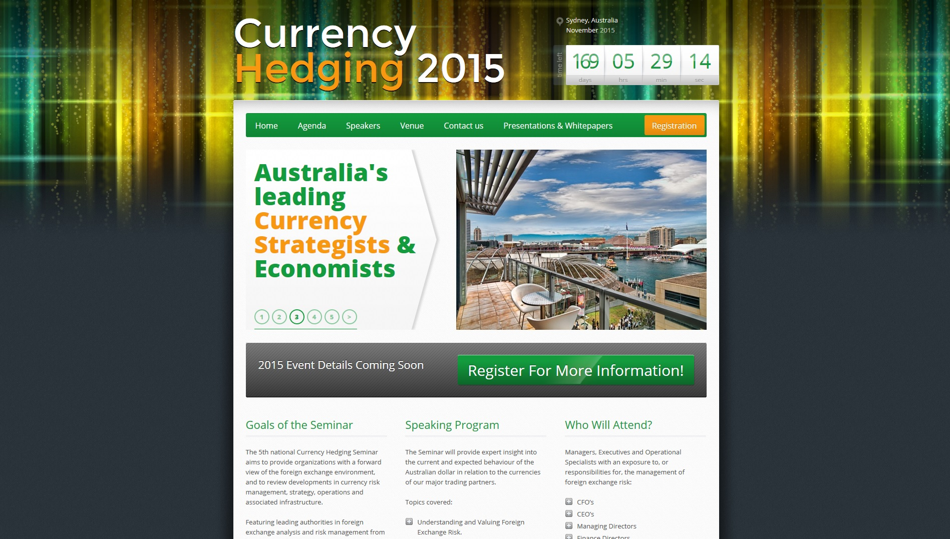 Currency 2015 Conference Website