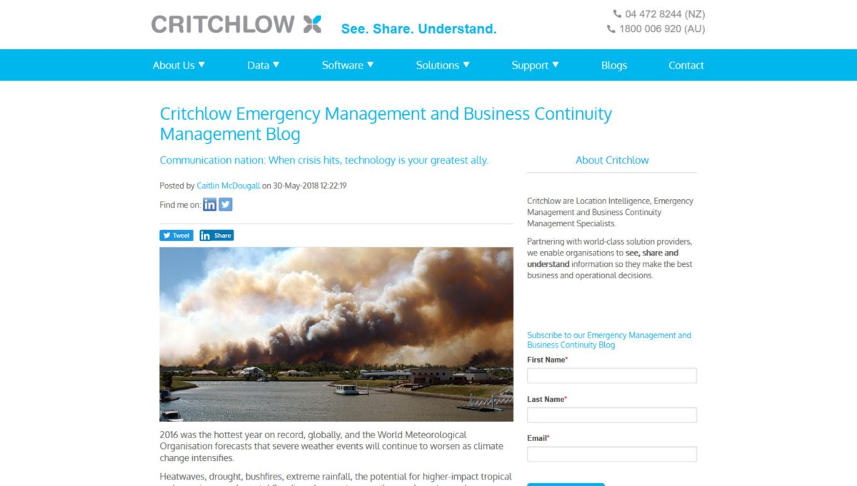 Critchlow NZ blog_Communication nation When crisis hits, technology is your greatest ally